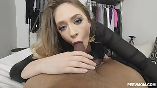 Busty mom deals the young cock in a superb POV