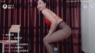 Asian MILF in pantyhose - solo video