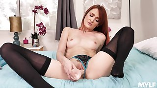 Sexy taboo JOI back sparkling red-haired older ecumenical Andi Rye