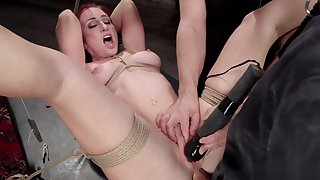 Redhead trainee mouth and aggravation banged