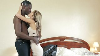 Young Russian Clootie Gina Gerson takes on a hung black suitor