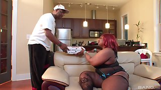 Black beam with a large penis drills deep in pussy of Constance