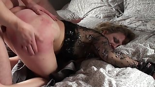 Mature loads her nuisance together with pussy with young nephew's dick