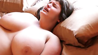 Hairy Aussie with big tits loves masturbating with say no to vibrating egg
