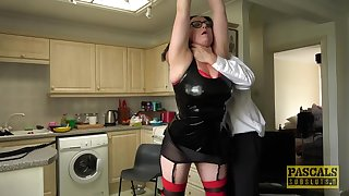 Gay blade spanks and fucks chubby whore just about massive natural jugs