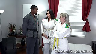 Kay Carter shares their way coal-black lover with horny lover Makayla Cox