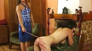 Rough femdom torture video with spanking for Brenda Mitchell
