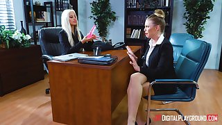 Office bitches finds it more than intriguing to fuck and pretentiousness nude
