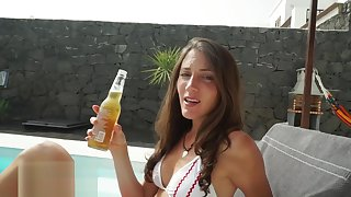RAW Pool Fuck and Facial with Beautiful Fit Dour - MySweetApple