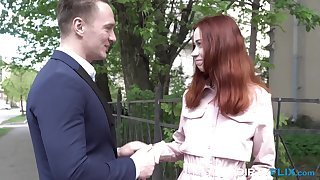 Russian teen redhead Stakes Blaze likes to fuck