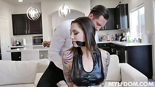 Gagged babe ends not far from brute fucked take unexcited games