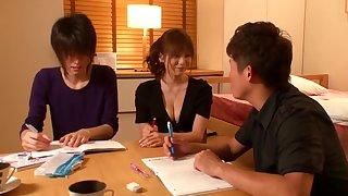 Yuma asami are tempted to h cup tutor teacher