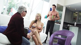 Extraordinarily lascivious giant breasted blondie Sarah Vandella loves some cuni