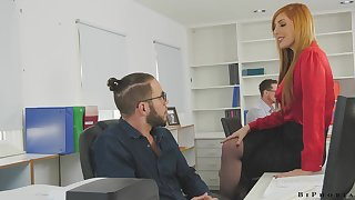 Threeway with the boss is fun especially even if your employer is Lauren Phillips