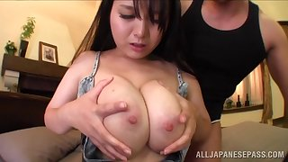 Curvy Asian get hitched Anna Natsuki moans during balls deep drilling