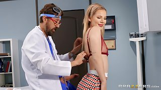 Foremost years this slim beauty tries her doctor's cock