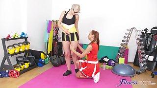 Wild FFM threesome on the floor with chap-fallen cheerleader Kety Pearl