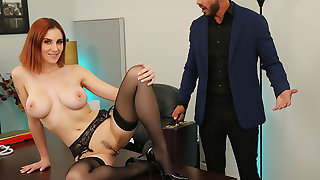Lilian Stone drains her boss' baloney to on the shelf relieve his stress