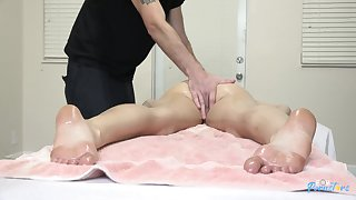 Nude X-rated massage for horny Alex Coal ends surrounding near cunnilingus