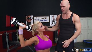 Fit blonde MILF Nikita Von James moans with pleasure by way of sex