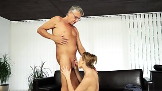 Elderly young arse trample and virgin first period Sex with the brush