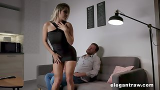 Energized kirmess strips and gets laid after a serious foreplay