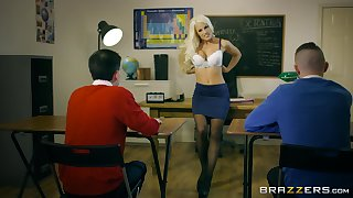 Young lads show their teacher eradicate affect spent threesome she ever had