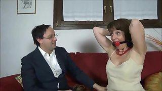 Mature Italian lady enslavement porn video