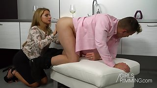 Russian babe Sofi Goldfinger eats ass so willingly and she loves anal sex